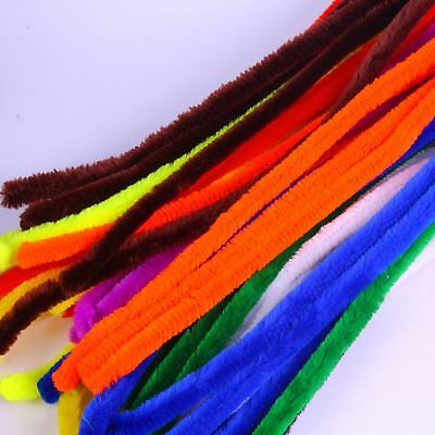 Giant  Pipe Cleaners  Extra Long Flexible Assorted Bright Colours Pack of 50