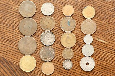 Lot of 19 Old Coins - Silver US Chile New Guinea Great Britain France Canada 🔥