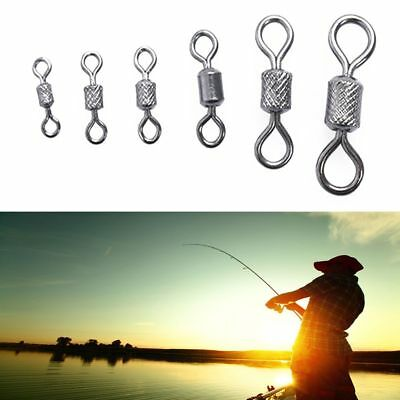 Hot High Quality Solid Rings Rolling Swivel Fishing Hook Connector Ball Bearing
