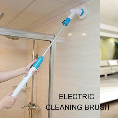 Electric Handheld Rechargeable 3Head Turbo Scrub Cordless Cleaning Spin Scrubber