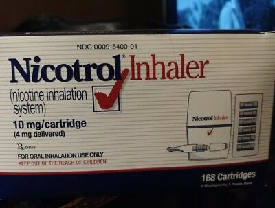 Nicotrol Inhaler 168 Cartridges/5 Mouthpieces 10mg Quit Smoking System NEW