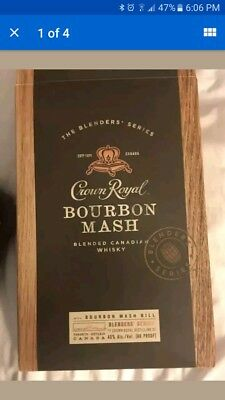 NEW Collectors Edition Error Recalled Crown Royal Bourbon Mash Canadian Whiskey