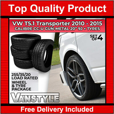 Vw T5.1 2010-15 Calibre Cc-U 20 Inch 9J Load Rated Gun Metal Finish Wheel & Tyre
