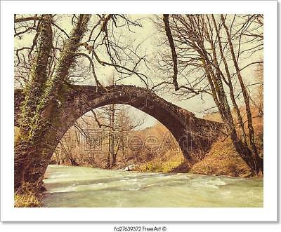 Bridge In Greece Art Print Home Decor Wall Art Poster - J