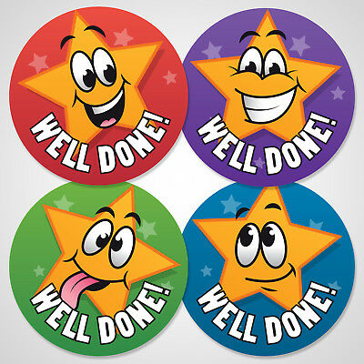 144 Well Done School Reward Stickers For Kids Children Teacher Award, 30mm Size