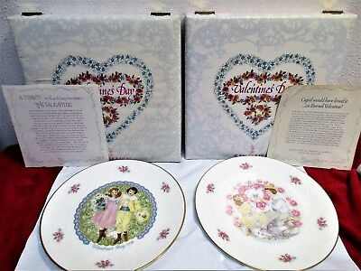 """Vintage 2 Royal Doulton Valentine's Day Collector's Plates 1976 & 77 set 8 1/4"""""""
