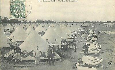 Cp Camp De Mailly Un Coin De Campement