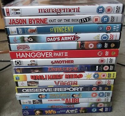 Job Lot Of 15 Dvds In Vgc, Various Genres - Some New & Sealed