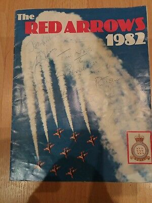 The Red Arrows Signed Souvenir Booklet 1982
