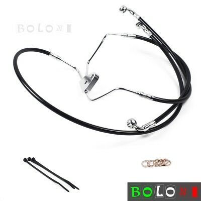 "Front +8"" Stainless Steel Brake Cables Line Kit For Harley Road King 2008-2013"