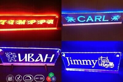 24V Custom LED 500mm Your Name plate Sign Scania Man with RGB controller Dimmer