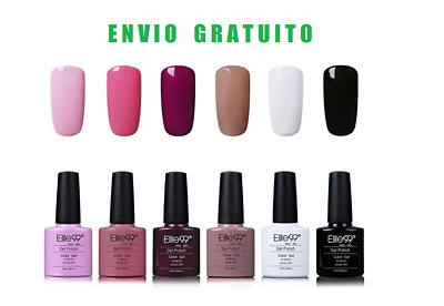 Pack de 6 esmaltes de uñas de gel semipermanetes UV/LED