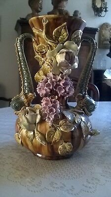 Grand vase Barbotine ancienne.