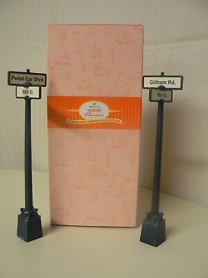 Hallmark Kiddie Car Classics Street Signs Corner Collection Two Signs