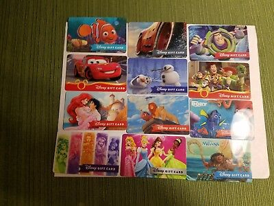 """Disney Collectible  Gift Cards """"NO VALUE"""" Lot of 12 Frozen Toy Story"""