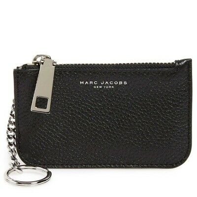21fecbdd65d1 NWT MARC JACOBS Gotham Pebbled Leather Crossbody Wallet ~ Black ...