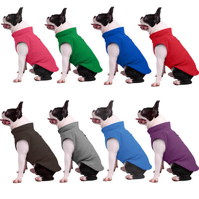 Pet Dog Fleece Harness Vest Jumper Sweater Coat for Small Medium Dogs Jacket US