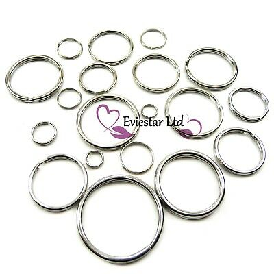 Double Split Ring Key Rings Double Loops 304 Stainless Steel Keychain Rings NAP