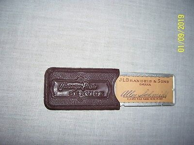 Old Metal CHARGE CARD PLATE J L Brandeis & Sons - Omaha, NE