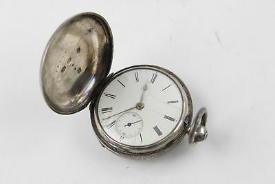 Antique 1856 Hallmarked CHESTER Solid Silver Fusee POCKET WATCH Key-Wind (101g)