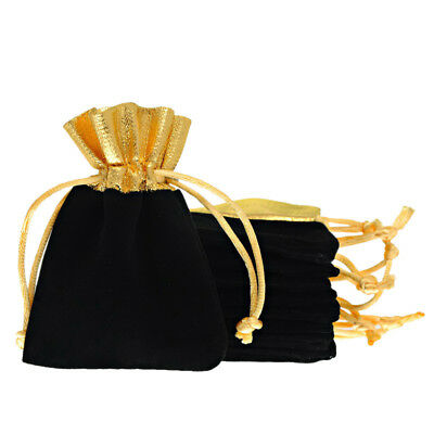 5/10Pcs Velvet Bags Jewelry Wedding Party Favors Gift Drawstring Pouches Black