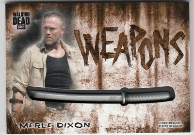 2018 Walking Dead Merle Dixon Hunters And Hunted Weapon Medallion 12/99