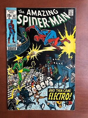 Amazing Spider-Man #82 (1970) 6.5 FN Marvel Key Issue Comic Electro App Stan Lee