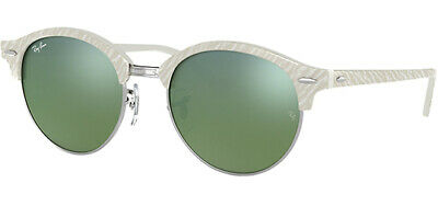 449491193d Ray-Ban Clubround Women s Ivory Vintage Sunglasses w  Mirror Lens - RB4246  9882X