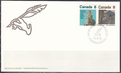 Canada Scott 659a FDC - Canadian Authors