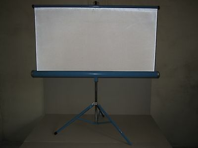"Vintage Projection Screen 39.5"" X 39.5"" - Portable - made by Brilliant"