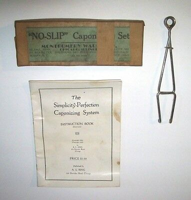 Antique Caponizing System - Veterinary Tool - 1923