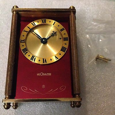 Rare VINTAGE JAEGER LECOULTRE 8 DAY REUGE MUSIC ALARM CLOCK As Is Repair Project