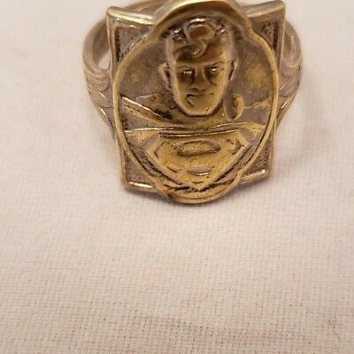 Vintage Superman Crusaders Ring Kellogg's Cereal Premium 1946 Antique Dc