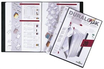 Durable 243201 DURALOOK Plus DISPLAY BOOK with 20 Pockets - Black, PK5