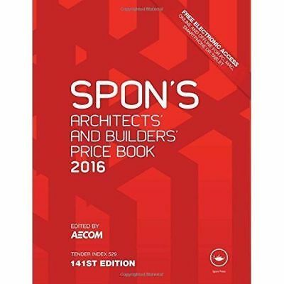 Spon's Architect's & Builders' Price Book 2016 WOW!!