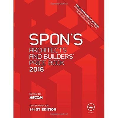 Spon's Architect's & Builders' Price Book 2016 Bargain!