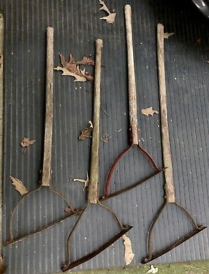 VINTAGE SLING BLADE Lot of 5 OLD ANTIQUE WEED CUTTER, GARDEN, COLLECTIBLES TOOLS