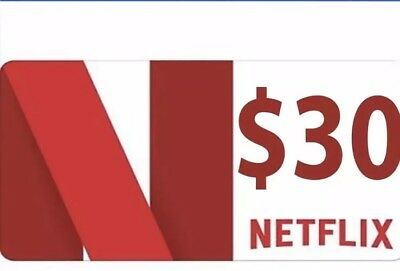 Netflix US $30 value - Instant PayPal Email Delivery Only