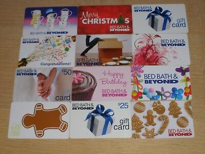 Bed Bath & Beyond   12 different new collectible gift cards