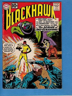 Blackhawk #165, 1961, FN 6.0, house ad for Showcase #34-first Atom