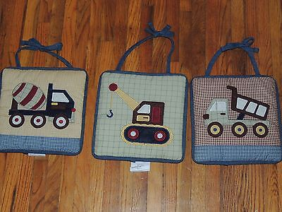 Geenny Constructor Construction 3 Soft Wall Hangings Cement Dump Truck Crane