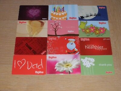 HyVee   12 different new and used collectible gift cards
