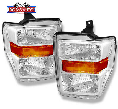 For 2008 2009 2010 Ford F250 F350 F450 SuperDuty OE Style Headlights Headlamps