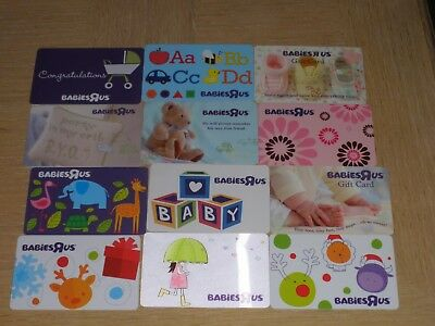 Babies R Us   12 different new collectible gift cards