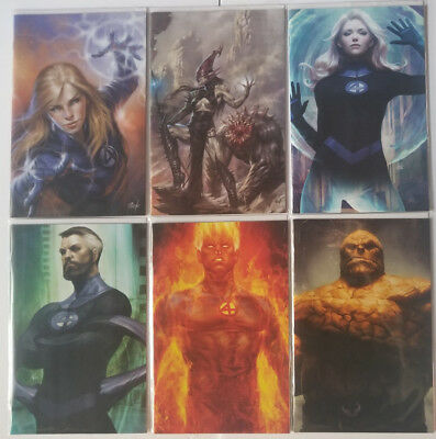 Fantastic Four #1 #2 #3 Artgerm Parrillo Virgin Variant 6 Comic Lot