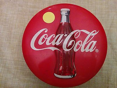 Coca-Cola Coke Tin Metal Advertising Round Box 1996 Vintage Style Collectible