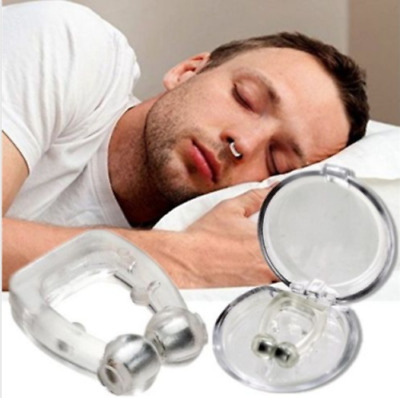 Unisex Stop Snoring Anti Snore Free Sleep Silicone Magnetic Nose Clip BF9 04