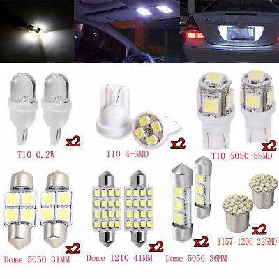 New 14pcs White LED 1157 T10 31 36mm Interior Map Dome License Plate Light Kit