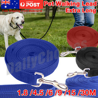 Extra Long Strong Nylon Pet Dog Puppy Slip Training Walking Lead Rope 1.8M - 30M