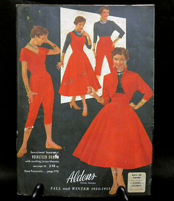 Vintage Aldens Catalog 1954 - 1955 Fall and Winter Fashion Home Goods 883 Pages